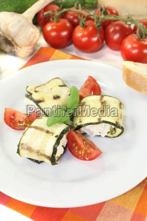 delicious fresh stuffed zucchini rolls