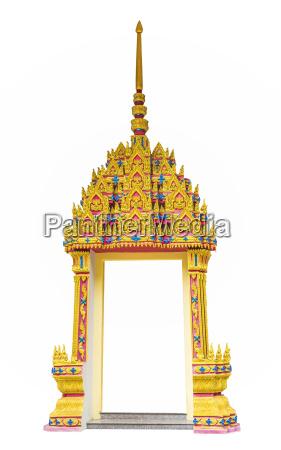 door frame thai art style
