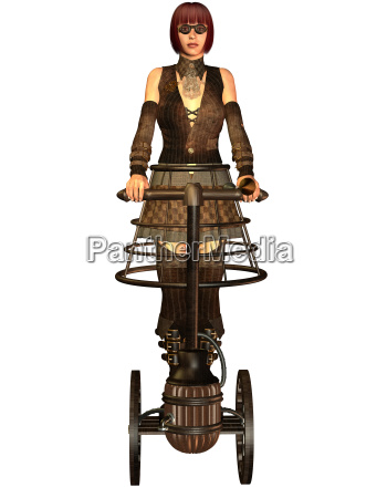 woman in steampunk look on a