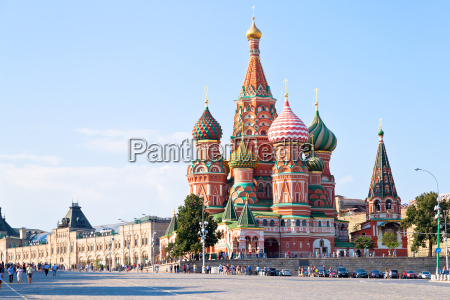 red square with vasilevsky descent in