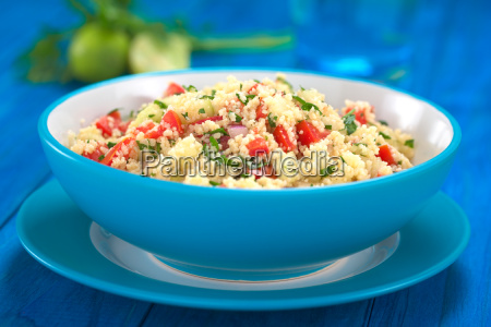 fresh homemade tabbouleh at arabian salad