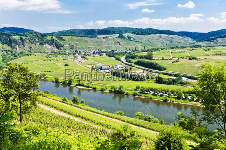 moselle valley and mosel river in