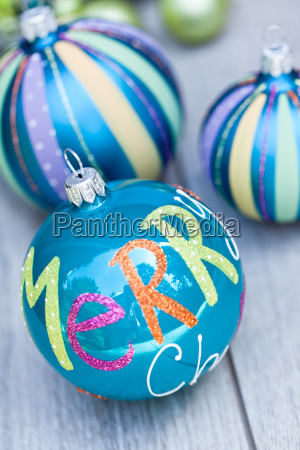 festive shiny christmas ball decoration in