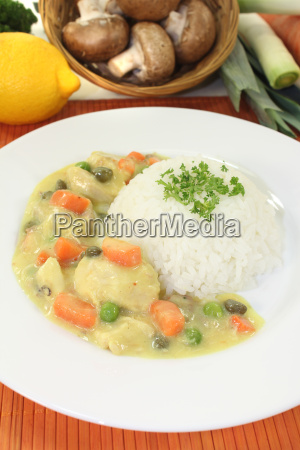 chicken fricassee with rice