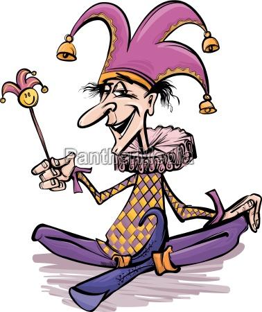 jester or joker cartoon illustration