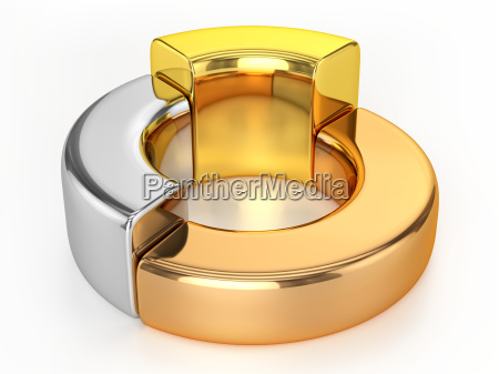 ring chart gold silver bronze