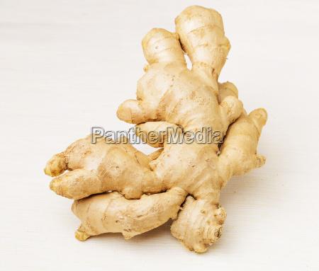 ginger isolated on white