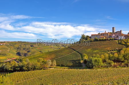 small typical italian town on the