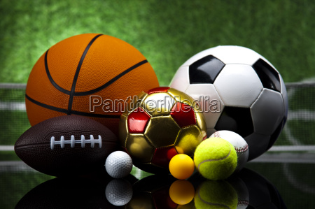 sport a lot of balls and