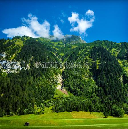 beautiful alpine mountains