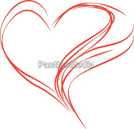 abstract, red, heart - 9899116