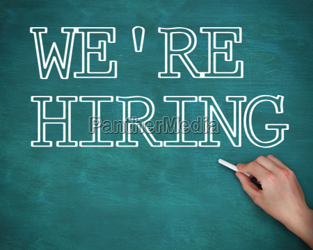hand writing we are hiring on