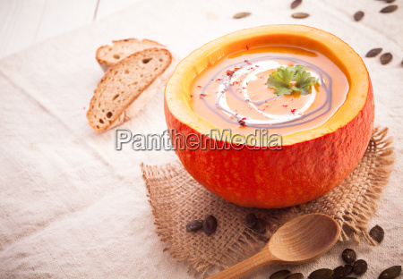 colourful fall pumpkin soup