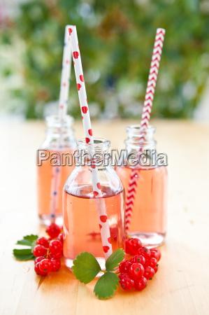 fresh lemonade in small bottles