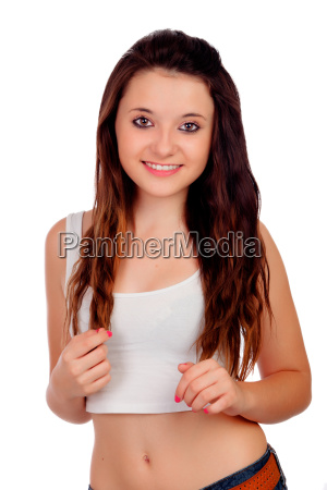 natural teen girl with copper hair