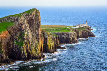 view of neist point lighthouse and