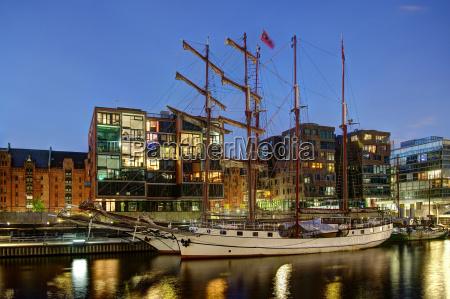 in tall ship harbour hamburg hafencity
