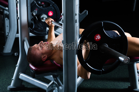 man at gym in studio on