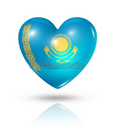 love kazakhstan heart flag icon