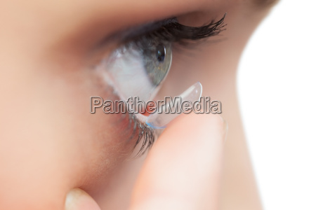 extreme close up on young model