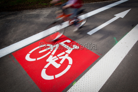 urban traffic concept bikecycling lane