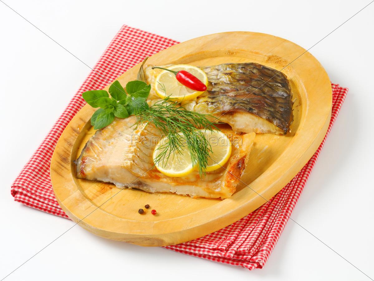 oven, baked, carp, fillet - 10011566