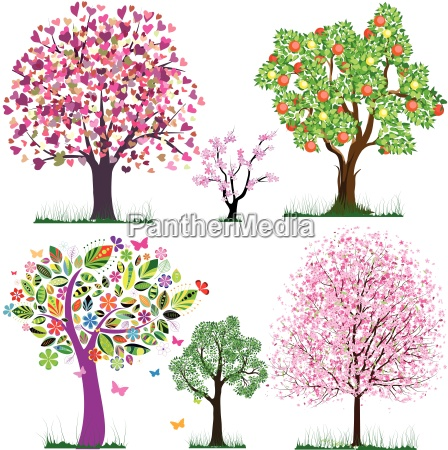 vector fabulous trees