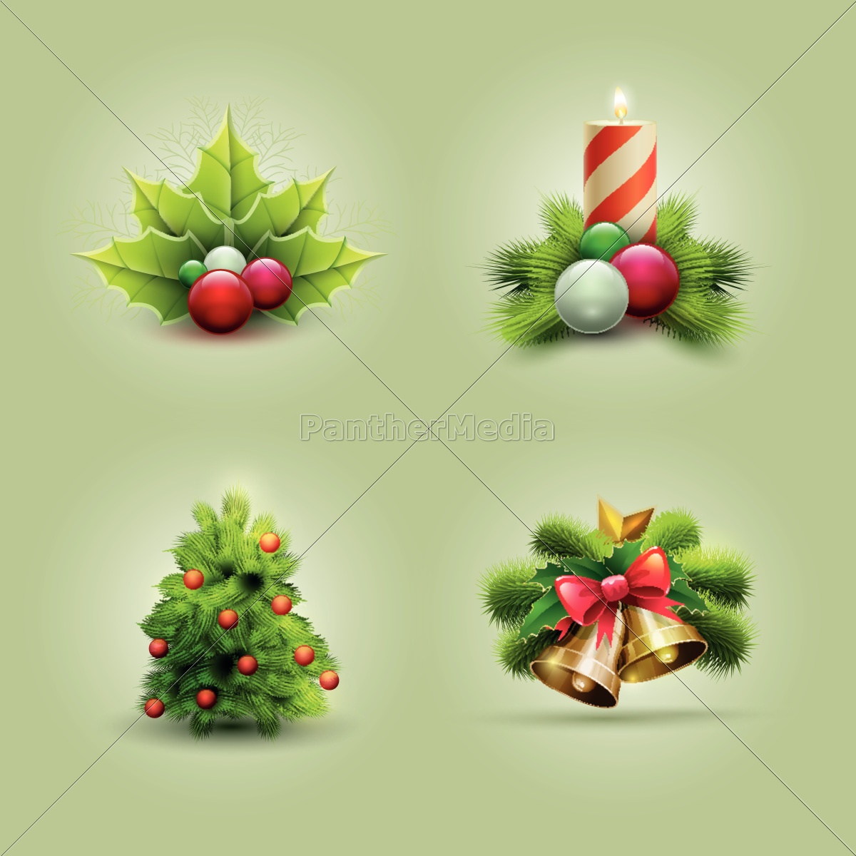 christmas, symbol, set - 10014634