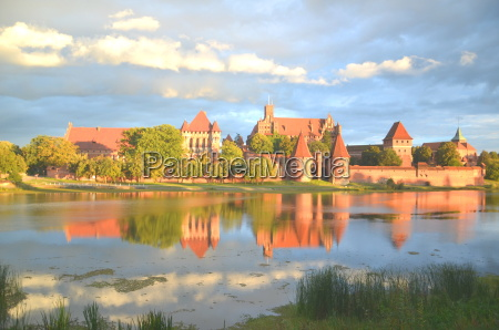 picturesque view of malbork castle in