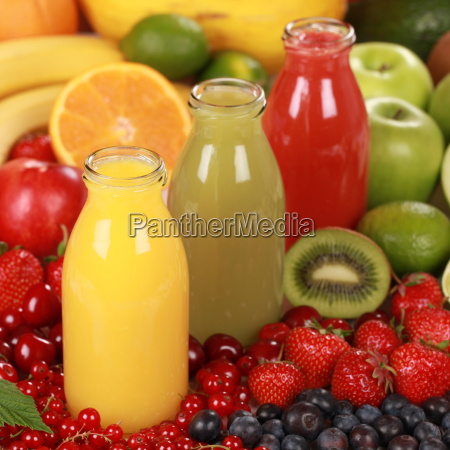 fruit smoothies from oranges strawberries and