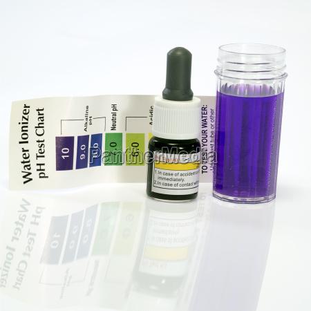 alkaline water test ph reagent purple