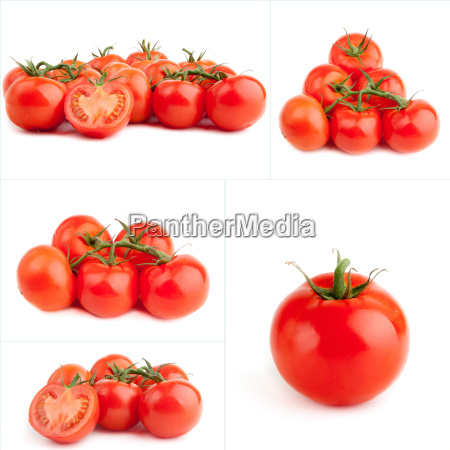 set of red tomato isolated on
