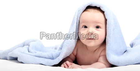 beautiful, baby, after, bath, under, a - 10030544