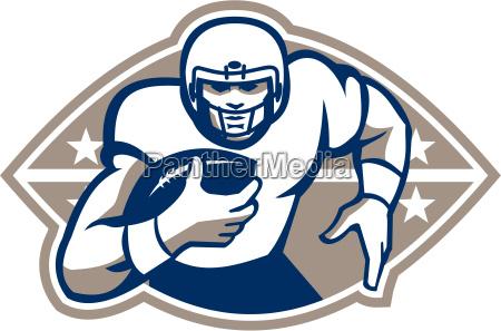 american, football, runningback, , star, front - 10032050