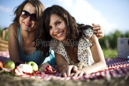 two women in the picnic