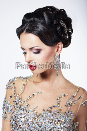 formal party gorgeous fashion model in