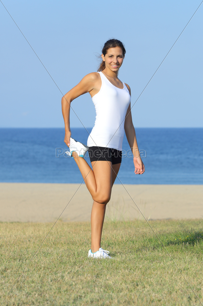 woman, sport, sports, stretch, training, exercise - 10043434