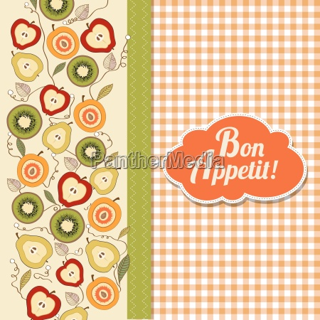 bon appetite card with fruits