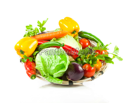 fresh, vegetable, isolated, on, white, background. - 10045606