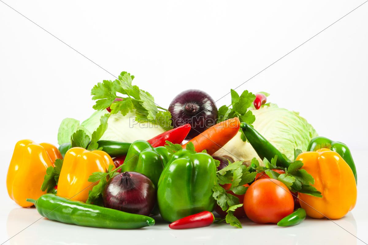 fresh, vegetable, isolated, on, white, background. - 10045614