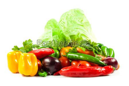 fresh, vegetable, isolated, on, white, background. - 10045624