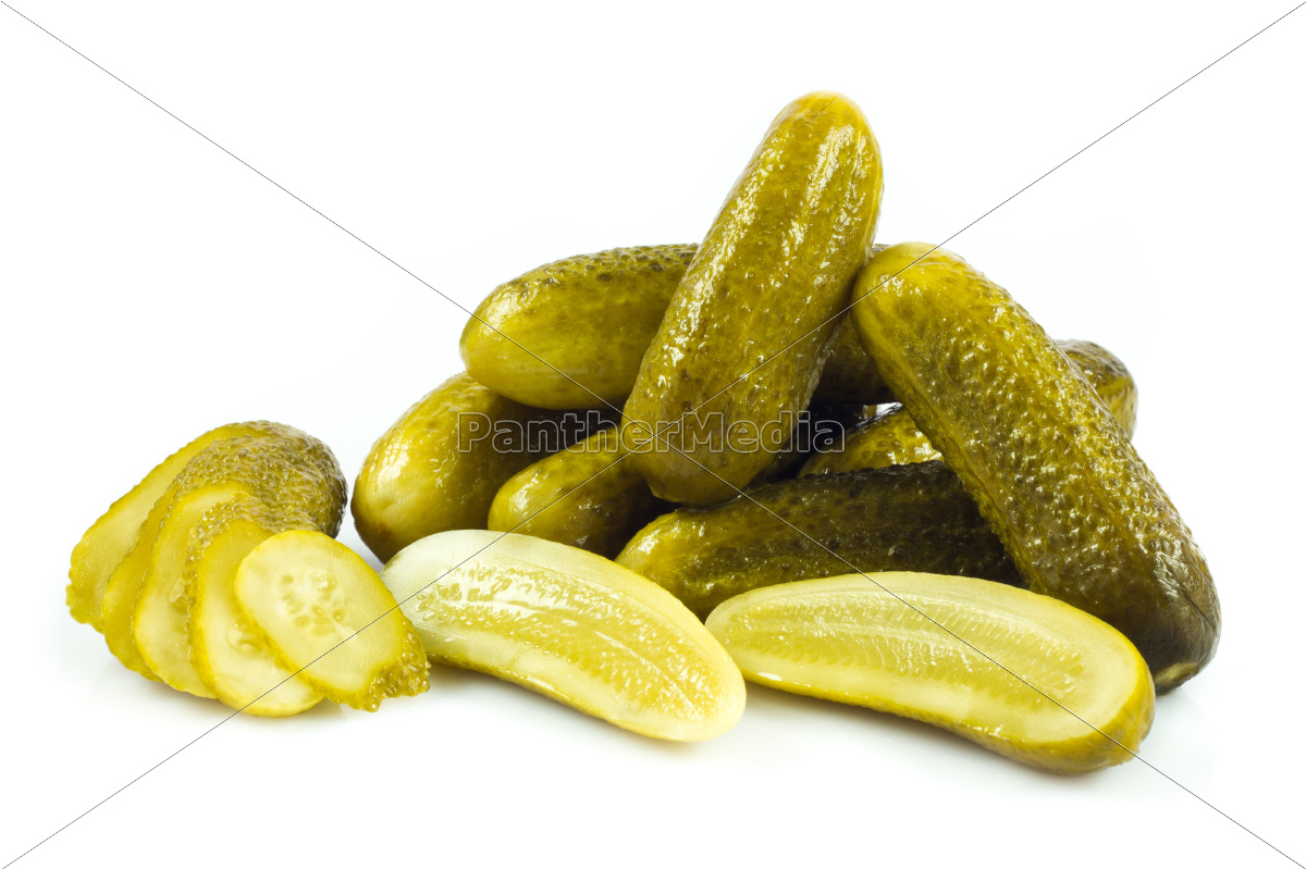 pickled, cucumbers., gherkins, on, a, white - 10045276