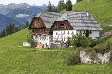 typical farm in south tyrol northern