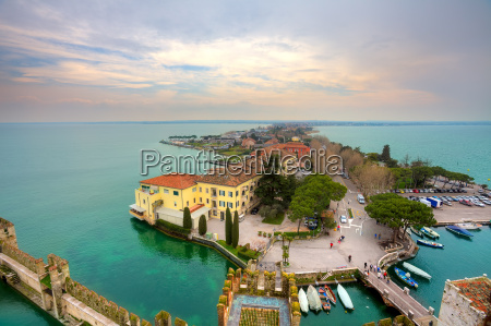 aerial view from scaglieri castle on
