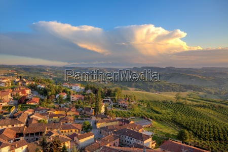 view of small typical italian town