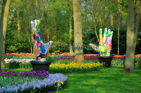 groene, vingers, (big, colorful, hands), with - 10053836