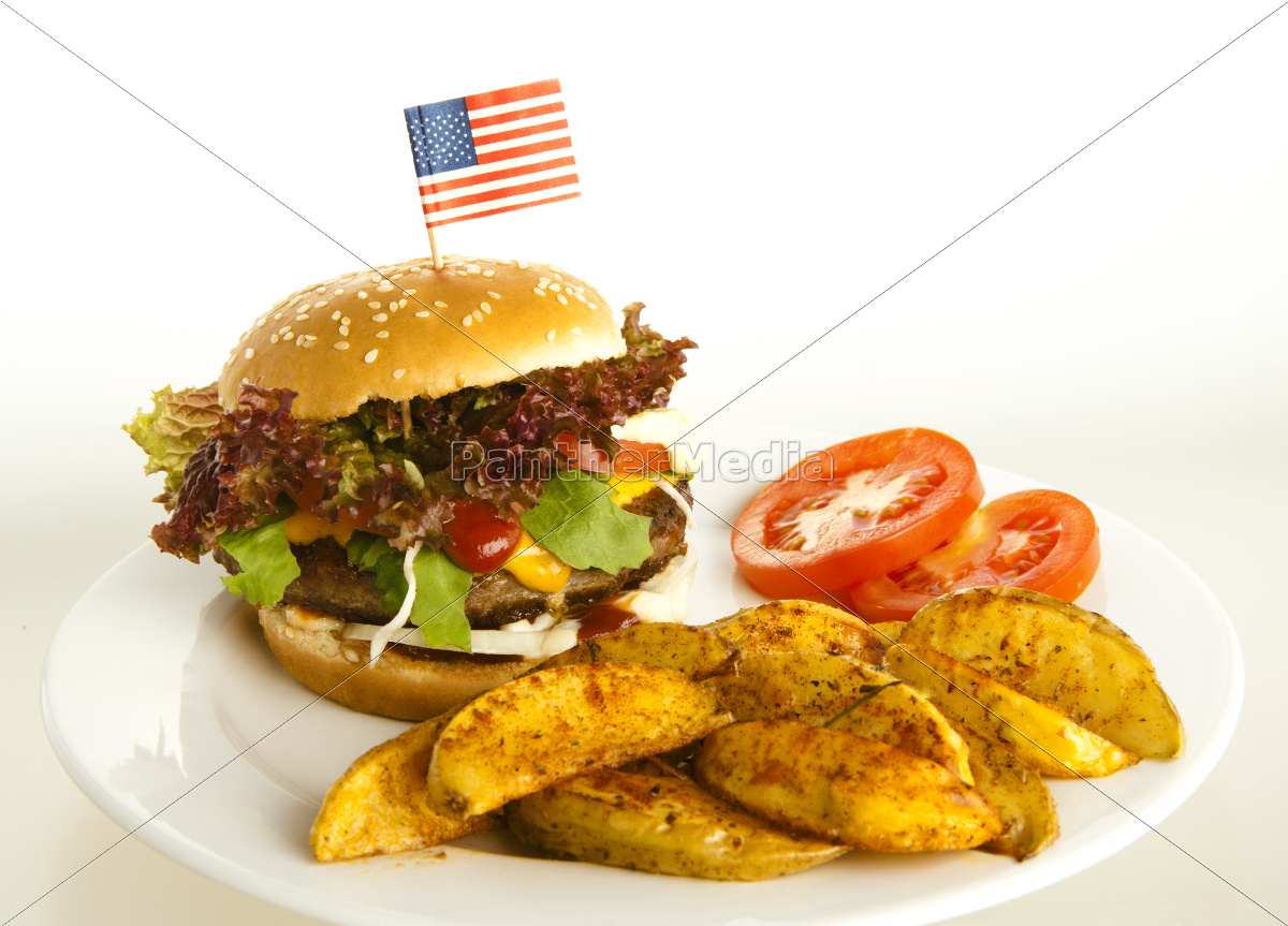burger, with, potato, wedges - 10055006