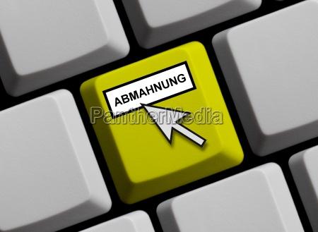 online warning