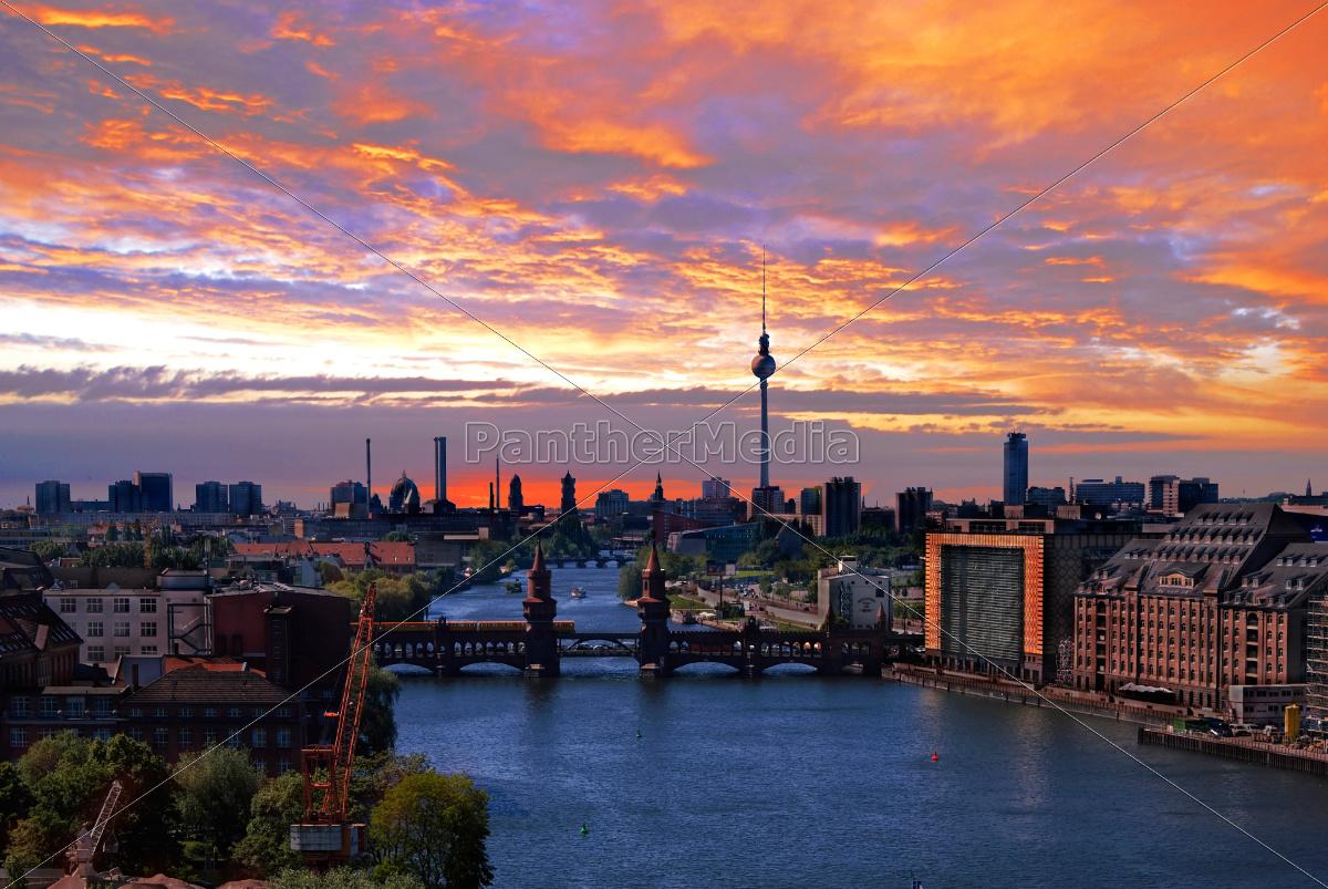 berlin, spree, skyline - 10059178