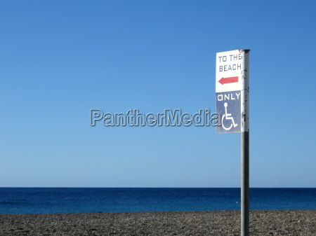 signpost for wheelchairs